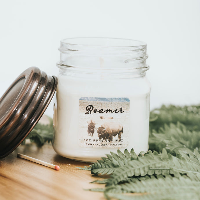Roamer 8oz Mason Jar Soy Candles