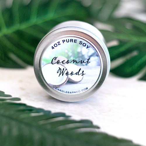 Coconut Woods 4oz TIN Soy Candles