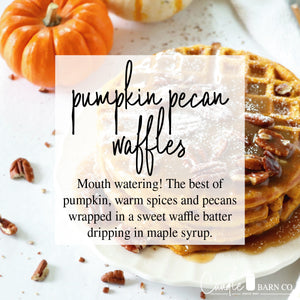 Pumpkin Pecan Waffles 16oz Mason Jar Soy Candles