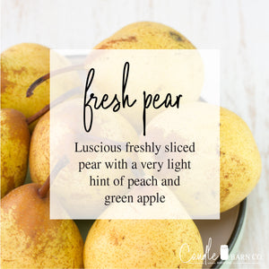 FRESH PEAR 8oz Mason Jar Soy Candles