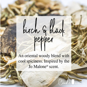 Birch & Black Pepper 16oz Mason Jar Soy Candles