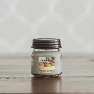 COUNTRY PEACH 8oz Mason Jar Soy Candles