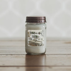 Welcome Home 16oz Mason Jar Soy Candles
