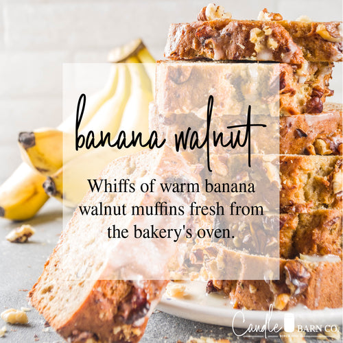 Banana Walnut 4oz TIN Soy Candles