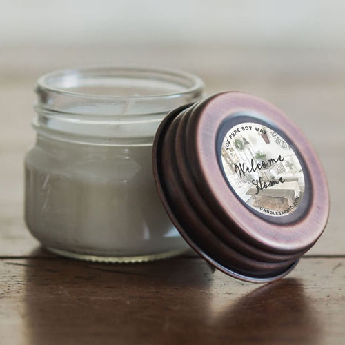 Welcome Home 4oz Mason Jar Soy Candles