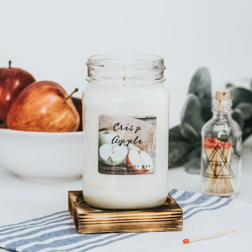 Crisp Apple 16oz Mason Jar Soy Candles