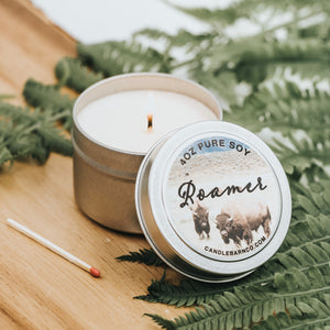 Roamer 4oz TIN Soy Candles