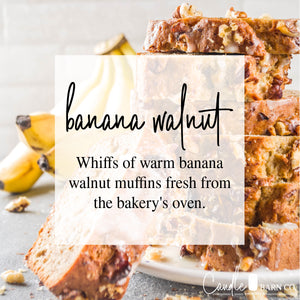 Banana Walnut 16oz Mason Jar Soy Candles