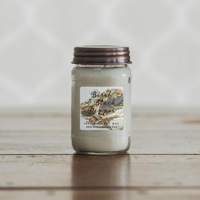 Birch & Black Pepper PURE SOY CANDLES