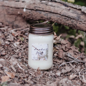 Lumber Jack 16oz Mason Jar Soy Candles