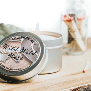 Wild Wild West 4oz TIN Soy Candles