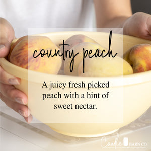 COUNTRY PEACH 4oz TIN Soy Candles
