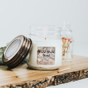 Wild Wild West 8oz Mason Jar Soy Candles