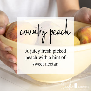 COUNTRY PEACH 16oz Mason Jar Soy Candles