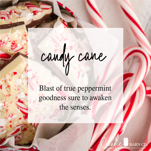 Candy Cane 4oz TIN Soy Candles