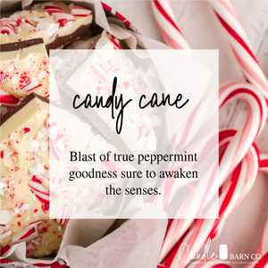 Candy Cane 16oz Mason Jar Soy Candles