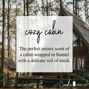 Cozy Cabin 8oz Mason Jar Soy Candles