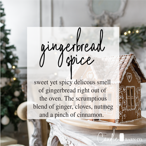 Gingerbread Spice 4oz TIN Soy Candles