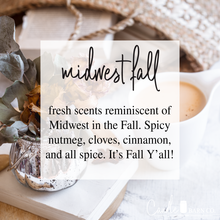 Load image into Gallery viewer, Midwest Fall 4oz Mason Jar Soy Candles