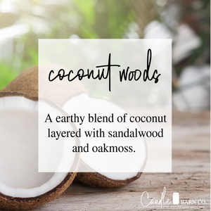 Coconut Woods 8oz Mason Jar Soy Candles
