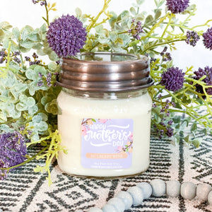 *HAPPY MOTHERS DAY 8oz Mason Jar Soy Candles