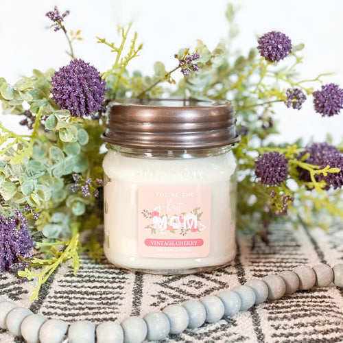 *YOU'RE THE BEST MOM 8oz Mason Jar Soy Candles