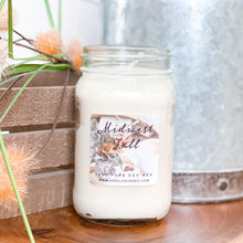 Load image into Gallery viewer, Midwest Fall 16oz Mason Jar Soy Candles