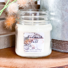 Load image into Gallery viewer, Midwest Fall 8oz Mason Jar Soy Candles