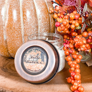 Hello Autumn 4oz Mason Jar Soy Candles