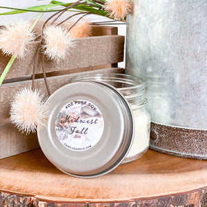 Midwest Fall 4oz Mason Jar Soy Candles