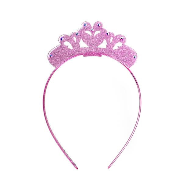 CROWN HEADBAND GLITTER LIGHT PINK