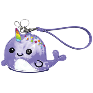PURSE KEYCHAIN NARWHAL