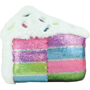 Slice of Cake Furry Reversible Sequin Pillow
