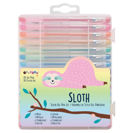 GEL SLOTH PEN SET