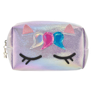 UNICORN IRIDESCENT COSMETIC BAG