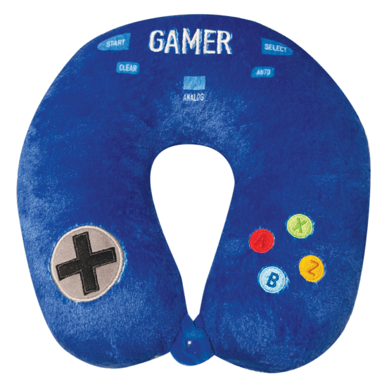 GAMER NECK PILLOW W/ SNAP CLOSURE