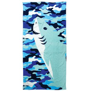 TOWEL IN A BAG SHARKS