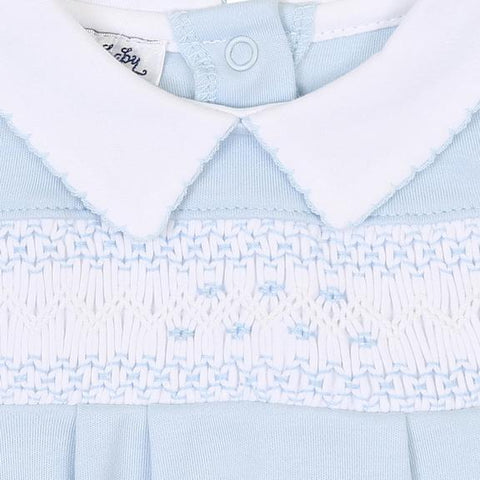 BLUE SMOCKED COLLARED BUBBLE