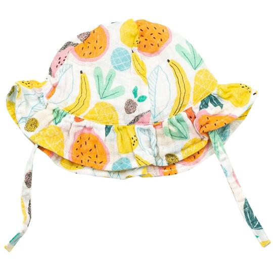 TROPICAL FRUIT MUSLIN SUNHAT
