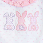 BUNNY APPLIQUE PINK BUBBLE