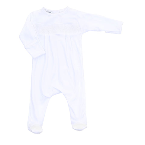 MB ESSENTIALS SMOCKED FOOT WHITE