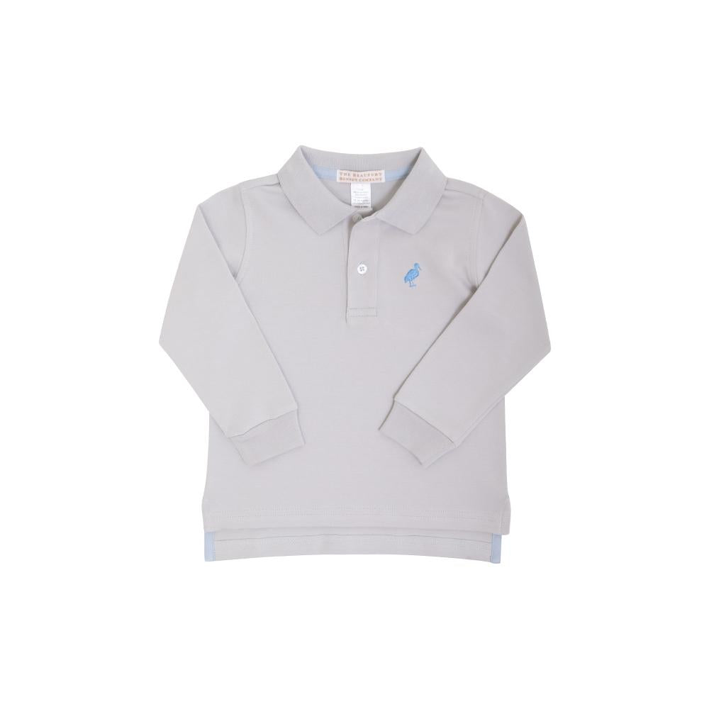 Long Sleeve Prim & Proper Polo Gray