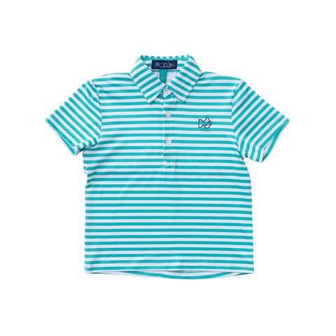 PERFORMACE POLO JADE STRIPE