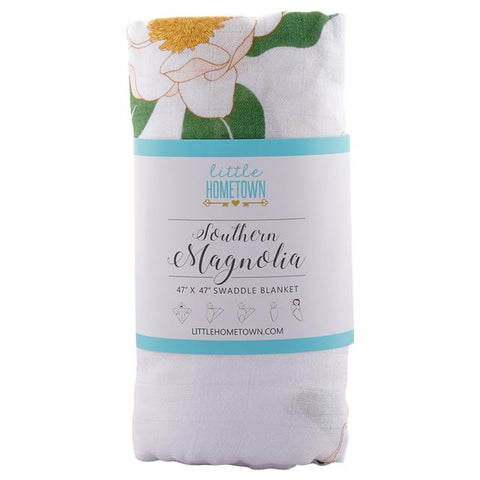 SOUTHERN MAGNOLIA MUSLIN SWADDLE