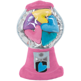 Hearts Gumball Machine Fleece Pillow