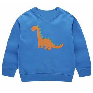 ORANGE STITCH DINOSAUR SWEATER