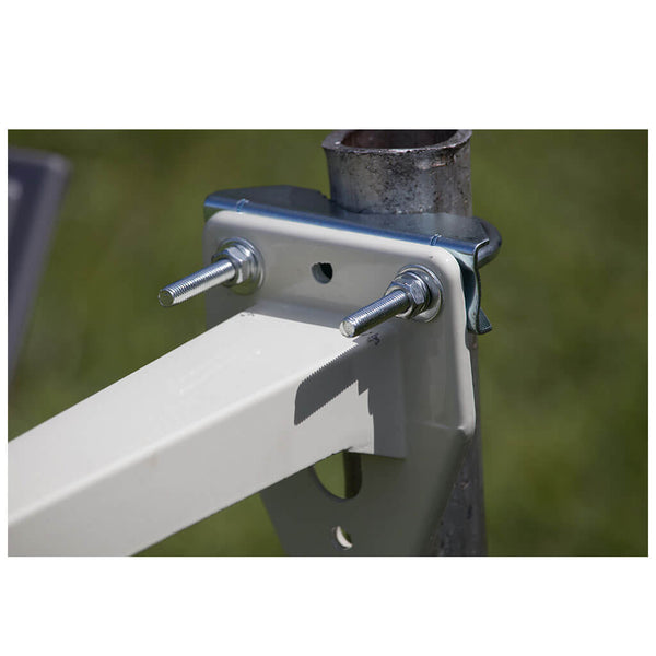 ubolts and mounting arm on a pole