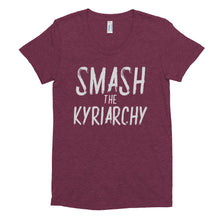 Load image into Gallery viewer, Femmes Smash the Kyriarchy in a Crew Neck T-shirt