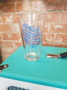 Black and Blues Logo Pint Glass