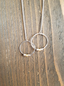 Retuned Interlocking Hoop Necklace